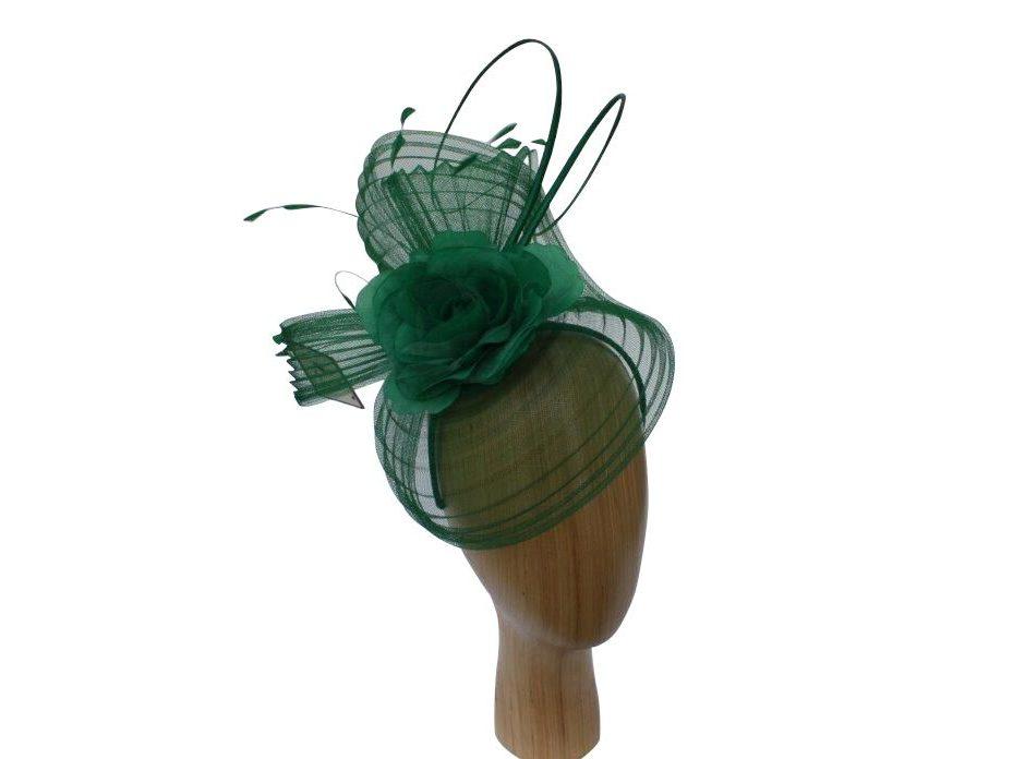 Flo – Stunning Emerald Green Fascinator Hat – Jem Heads ca28ccacdf5