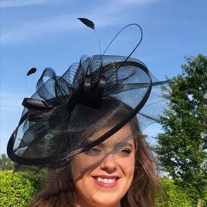 5ac78c50 A Large Black Soft Style Hat / Fascinator / Headpiece